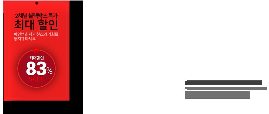 2채널 블랙박스 온라인 최저가 구매 찬스!